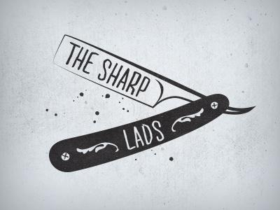 The Sharp Lads sharp lads band logo logotype branding brand razor