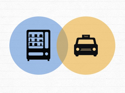 Taxi Treats icons iconography taxi web diagram illustration