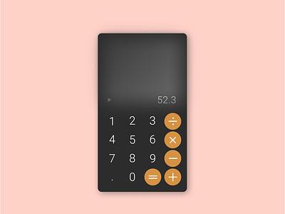 Daily UI 2 - Calculator daily ui challenge daily ui 002 app design ui daily ui calculator