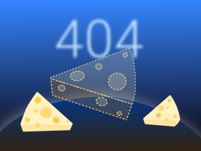 Daily UI 8 - 404 Page web design cheese is lost cheese lost in space not found 404 daily ui 008 daily ui challenge daily ui