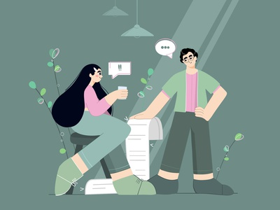 How to Make Communication in Workplace work vector illustration 2d character flatcolors coworker communication vector art vector workplace digital illustration 2d art flat design woman illustration flat illustration characterdesign character 2d illustration