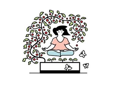 Noocity Urban Ecology — Spot Illustration sustainability plants meditation gardening urban farming affinity designer vector art design character illustration