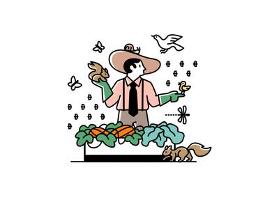 Noocity Urban Ecology — Spot Illustration nature gardening sustainability biodiversity urban farming spot illustration brand illustration design character illustration