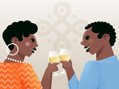 WIP vector illustration affinity designer wine angola african design character illustration