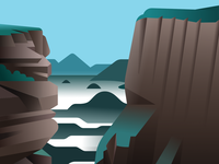 Tundavala vector mountains outdoors nature cliffs angola africa scenery landscape illustration