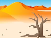 Namibe dunes desert angola scenery landscape illustration