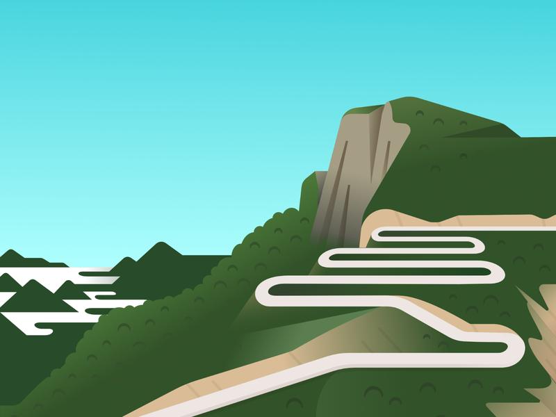 Leba Mountain Pass leba angola mountain scenery landscape illustration