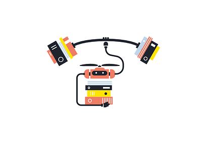 Syllabs Brand Illustration brand illustration data tech artificial intelligence robot illustration