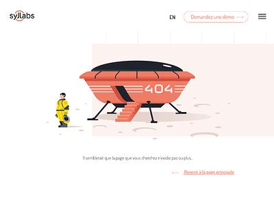 Syllabs Brand Illustration brand illustration ufo artificial intelligence 404 page illustration