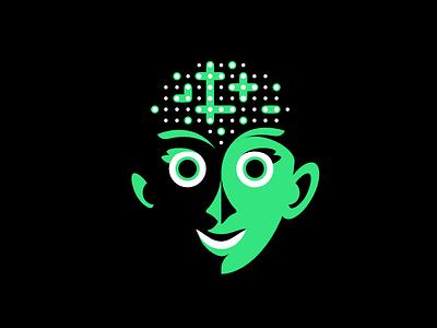 Neuroportraits brain intelligence neurodiversity neurology face character illustration portrait