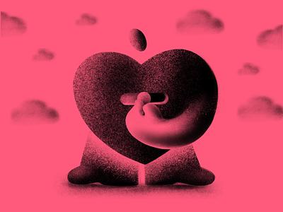 Turn on the love valentines day illustration switch heart love valentine