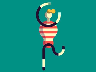 Let's Dance! illustration performer character summer dancer