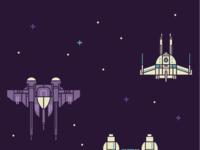 Spaceships smartphone 2x