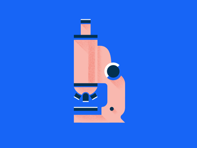 Understanding illustration icon microscope