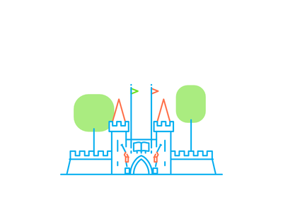 Coimbra - Portugal dos Pequenitos coimbra line icons minimal monoline city landmark building architecture illustration