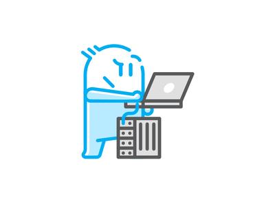 Computer Engineer Avatar web iconography icon design character illustration