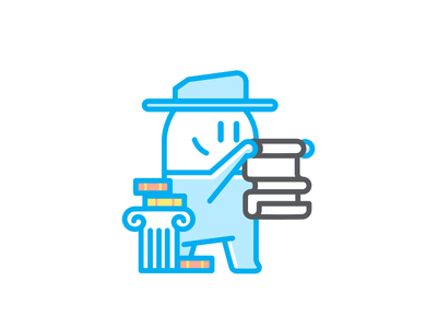 Social Sciences Avatar web iconography icon design character illustration