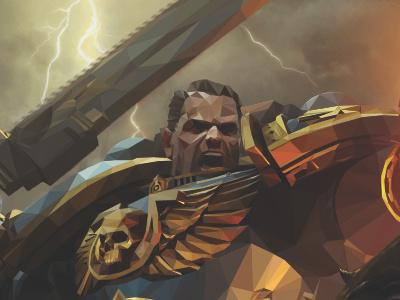 Warhammer Space Marines lowpoly