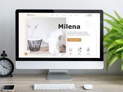 Design furniture shop webdesign website furniture