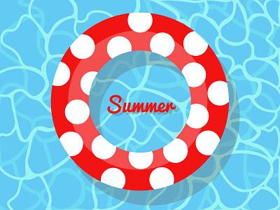 Swimming summer badge illustrator 2021 water bagde summer weeklywarmup
