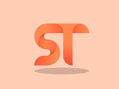 ST monogram logo monogram logo monogram technology tech logo 3d branding bussiness logo minimal illustration icon design logo branding