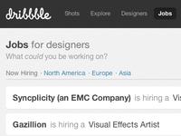 Job filters
