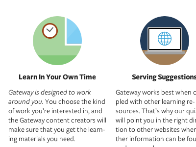 Gateway Landing, Take 2 gateway lessons learning vocation design freight sans html css