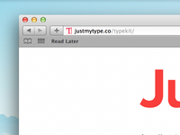Just My Type Favicon