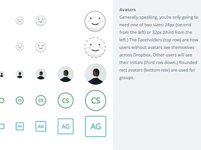 Faceholder cute illustration avatars dropbox web users growth