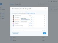Shared folder settings