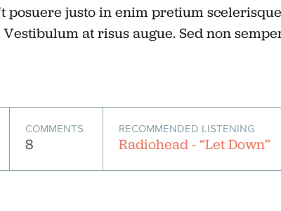 Recommended Listening music recommended listening blog redesign wordpress css jubilat proxima nova web webfonts