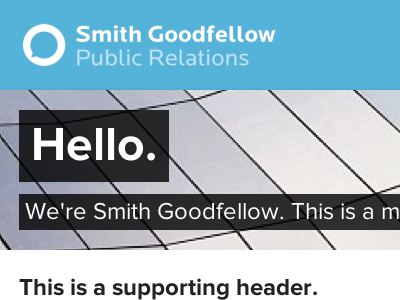 Smith Goodfellow web css css3 design web design public relations