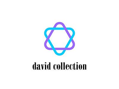 David Collection logo illustrator commision work typography design vector minimal brand identity branding logo flat