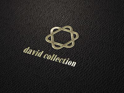 Gold logo David Collection typography illustration brand identity commision work graphic design minimal icon branding logo flat