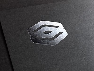 Silver logo twin cubes chrometype typography graphic design vector design brand identity commision work logo branding flat