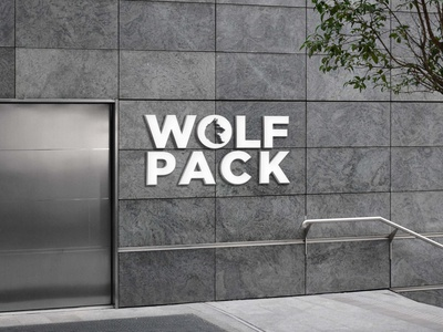 Wolfpack logo logo flat brand identity typography minimal branding graphic design