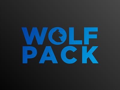 Wolfpack logo lettering lettering logo icon commision work brand identity branding logo flat