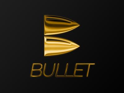 GOLD BULLET LOGO typography vector graphic design icon minimal commision work flat branding brand identity logo