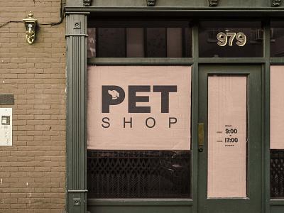 PETSHOP BANNER commision work typography vector brand identity graphic design icon minimal flat branding logo