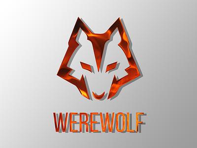 WEREWOLF LOGO FIRE TEXTURE typography vector brand identity commision work graphic design icon minimal flat branding logo