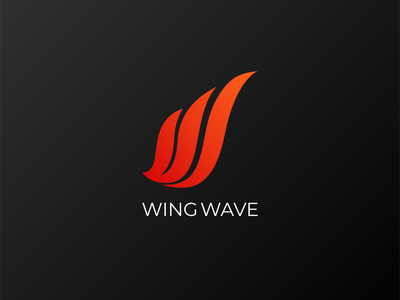 WING WAVE LOGO commision work typography illustration illustrator gradient logo graphic design flat icon minimal branding logo
