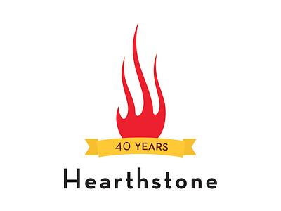Hearthstone Bistro 40th Anniversary Logo Concept hearthstone bistro logo restaurant anniversary