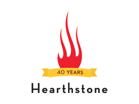 Hearthstone Bistro 40th Anniversary Logo Concept