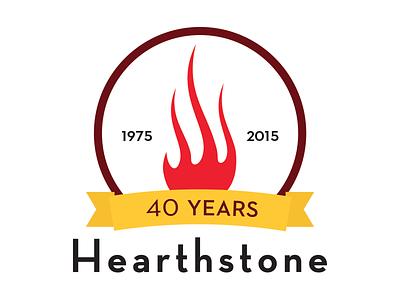 Hearthstone Bistro 40th Anniversary Final Logo hearthstone bistro logo restaurant anniversary flame