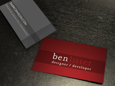 Business Card Render [2010] business card render