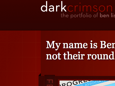 dark crimson 2008 site render red website dark crimson