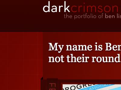 dark crimson 2008 site render red website dark crimson