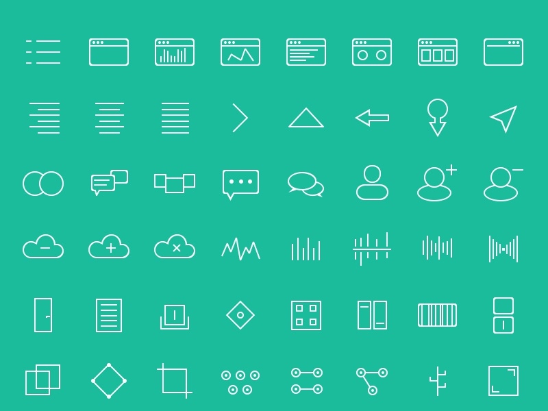 120 Abstract Icons Set icons freebie icon set psd abstract icons