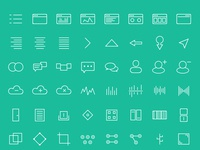 120 Abstract Icons Set