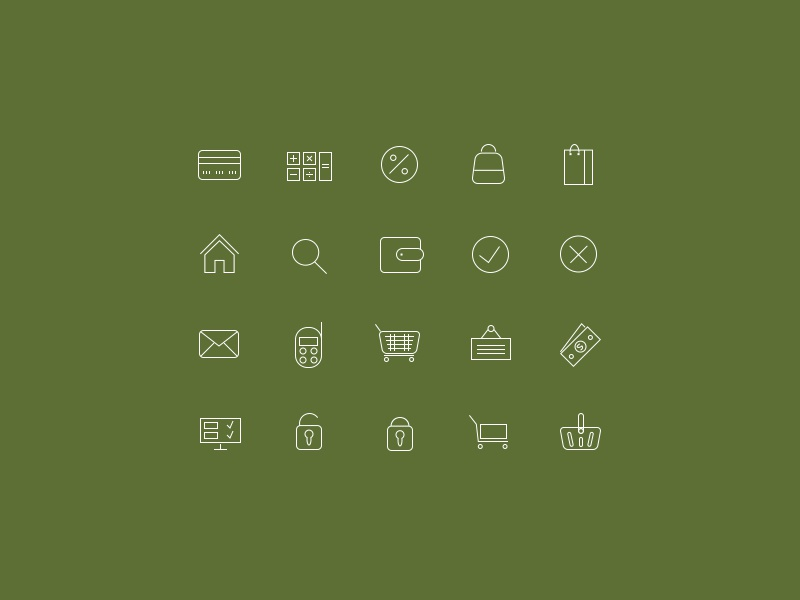 Online Store Icon Set icons freebie icon set psd abstract icons online shop icons